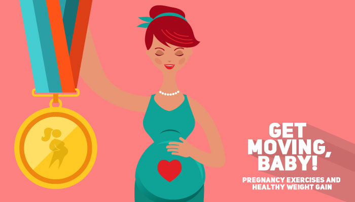 Infographic: Get moving, baby! – Pregnancy Exercises and Healthy Weight Gain