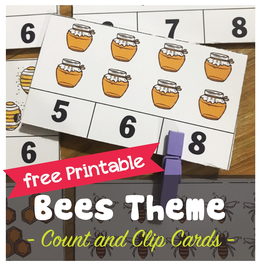Bees Theme: Teaching Preschoolers To Count With Fun